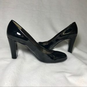Calvin Klein Patent Leather Stacked Heel Sz 9M